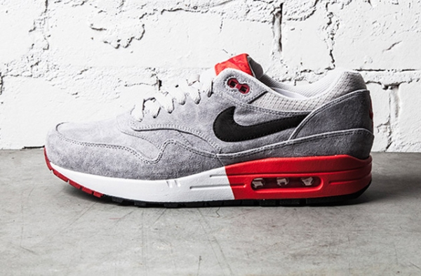 Air Max 1 Premium Grey - Red - 1